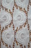 新しいデザインポリエステルレースファブリック刺繍の化学レースの服ファブリック