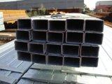 Diverses tailles de tube carré en acier recuit de noir et blanc soudé