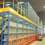Cremagliera del pavimento di mezzanine con il silos di immagazzinamento