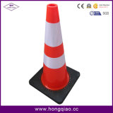 Cones pretos do PVC da base de 28 polegadas