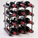 Cremagliera di visualizzazione cubica del vino del pino delle 12 bottiglie