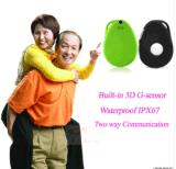 Perseguidor pessoal do GPS, integrado com o G-Sensor 3D e alarme ao cair/fazer sinal