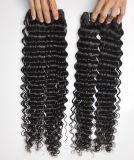 De onverwerkte Rang van de Weefsels van het Menselijke Haar van Haar diep Krullende 100% van /Bundle van de Uitbreiding van het Haar van de Arbeid 105g (+/-2g) Natuurlijke Braziliaanse Maagdelijke 8A