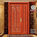 平らで旧式な両開きドアの正面玄関の外部の純木のドア(GSP1-013)