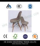 El arte gris avanzado del paño no es pie plástico de la silla de los apoyabrazos de madera verdaderos