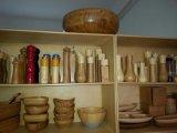 Tipo de bambú barnizado de las botellas y de los tarros del almacenaje