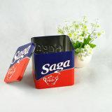 Plätzchen-Zinnblech-quadratischer verpackenkasten und leere Blechdosen