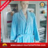 Peignoir bleu d'hôtel de coton de propriétaire d'usine d'essuie-main de la Chine