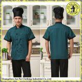 Chemises occasionnelles dernier cri d'uniforme de restaurant de chapeau de dessus de personnel d'hôtel