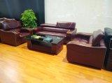 Sofá Home do couro da mobília com o sofá do couro genuíno