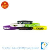 Wristband segmentado costume da impressão do silicone para o presente