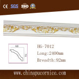 Oro/cornisa ligera de plata de la PU del lujo los 9cm LED del esquema que moldea para la decoración del hogar/del chalet