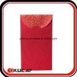 El bolsillo rojo de sellado caliente de Leisee de la tela envuelve por Año Nuevo chino