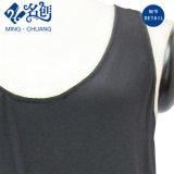 De zwarte Sleeveless Vest laag-Geplooide Zijdeachtige Sexy Kleding van de Dames van de Manier