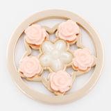 Шкентель Locket пластичной плиты монетки собрания цветка подходящий