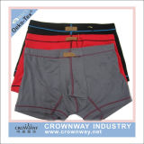 Men Boxer Shorts Printing Underwear com jacquard Waistband
