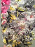 Tessuto del merletto di stampa di Cmyk per la signora Lingerie