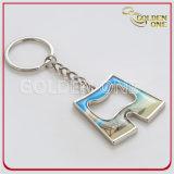 Förderndes Geschenk-buntes Flipflop-Form-Metall Keychain