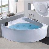 Nuova STAZIONE TERMALE d'angolo della vasca da bagno di massaggio di disegno 1360mm con Ce RoHS (AT-LW0803)