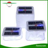 Preiswerter Würfel der Preis-im Freien Notleuchte-10 LED helle wasserdichte Belüftung-faltbare aufblasbare Sonnenenergie-kampierende Solarlaterne mit Batterie-Stufenbezeichnung