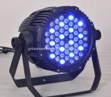Iluminación de la etapa luz de aluminio impermeable de la luz del PAR de 54PCS 3W RGBW 4in1 LED / luz de la colada / luz del efecto