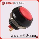 commutateur de bouton poussoir rouge momentané principal voûté de 12mm