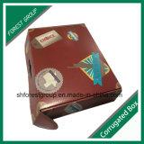 Caixa de papel de empacotamento impressa cor de cartão ondulado de Cmyk