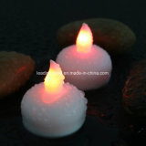 多色刷り水によって作動するLED Tealightの浮遊蝋燭Flameless Heatless電池のOpeartedの結婚式の蝋燭