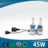 2017년 헤드라이트 전구 H8 LED 45W 차 LED 가벼운 5000lm H7 LED 헤드라이트
