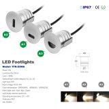 1W LED Downlight per l'indicatore luminoso della scala e della parete IP67 LED per il giardino e la sosta