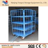 Carrello pieghevole d'acciaio di logistica per memoria del magazzino