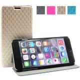 Cas de téléphone mobile de chiquenaude de cuir d'unité centrale pour iPhone7