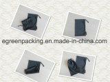 El negro piensa la bolsa de Microfiber del alto peso con la escritura de la etiqueta