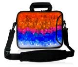"""Caisse de chemise du néoprène de la sacoche pour ordinateur portable colorée 17 de configuration """" avec la courroie de Handle&Shoulder"""