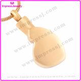 Colares do Urn para o pendente do coração do chapeamento de ouro das cinzas com cristais Ijd9687