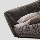 침실 사용 (FB8022)를 위한 회색 색깔 직물 연약한 침대