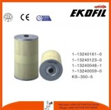 OEM del filtro de petróleo de la pieza de automóvil 1-13240123-0 para Isuzu