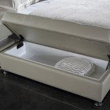 Het witte Bed van het Leer van de Kleur voor het Gebruik van de Slaapkamer (FB2092)