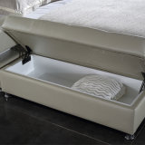 침실 사용 (FB2092)를 위한 백색 색깔 가죽 연약한 침대