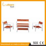 خارجيّ حديقة أثاث لازم [سويمّينغ بوول] ألومنيوم إطار بلاستيكيّة خشبيّة طاولة وكرسي تثبيت أريكة