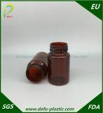 Verordnung-Kapsel-Flasche des Haustier-120ml mit Aluminiumschutzkappe