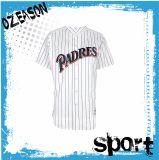 卸し売りカスタム女性の細い縦縞の野球ジャージー(B002)