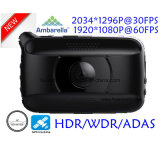 "Gravador de vídeo novo DVR de 2.7 de "" Digitas da caixa negra do carro Ambarella A7la50 4.0mega Hdr/WDR 1296p WiFi com o GPS que segue a rota, registro DVR-2718 do GPS do playback do mapa de Google"