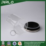 (400g 500g 600g 700g 900g) vaso di vetro di grande capienza con il coperchio dell'acciaio inossidabile