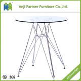 2016新製品のガラス上のダイニングテーブル(谷)
