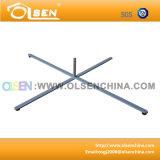 48*42cm 4 piedi di base trasversale d'acciaio per il basamento della bandierina