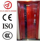 Puerta de acero de la seguridad de madera del color usada para la entrada de la casa