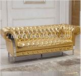 Klassisches ledernes Sofa hergestellt vom wahlweise freigestellten Leder für Wohnzimmer