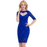 Heißer Großhandelsverkaufs-Luxuxspitze, die reizvolles Kleid glättet