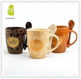 Tazas redondas baratas de cerámica de Handpainting del gres